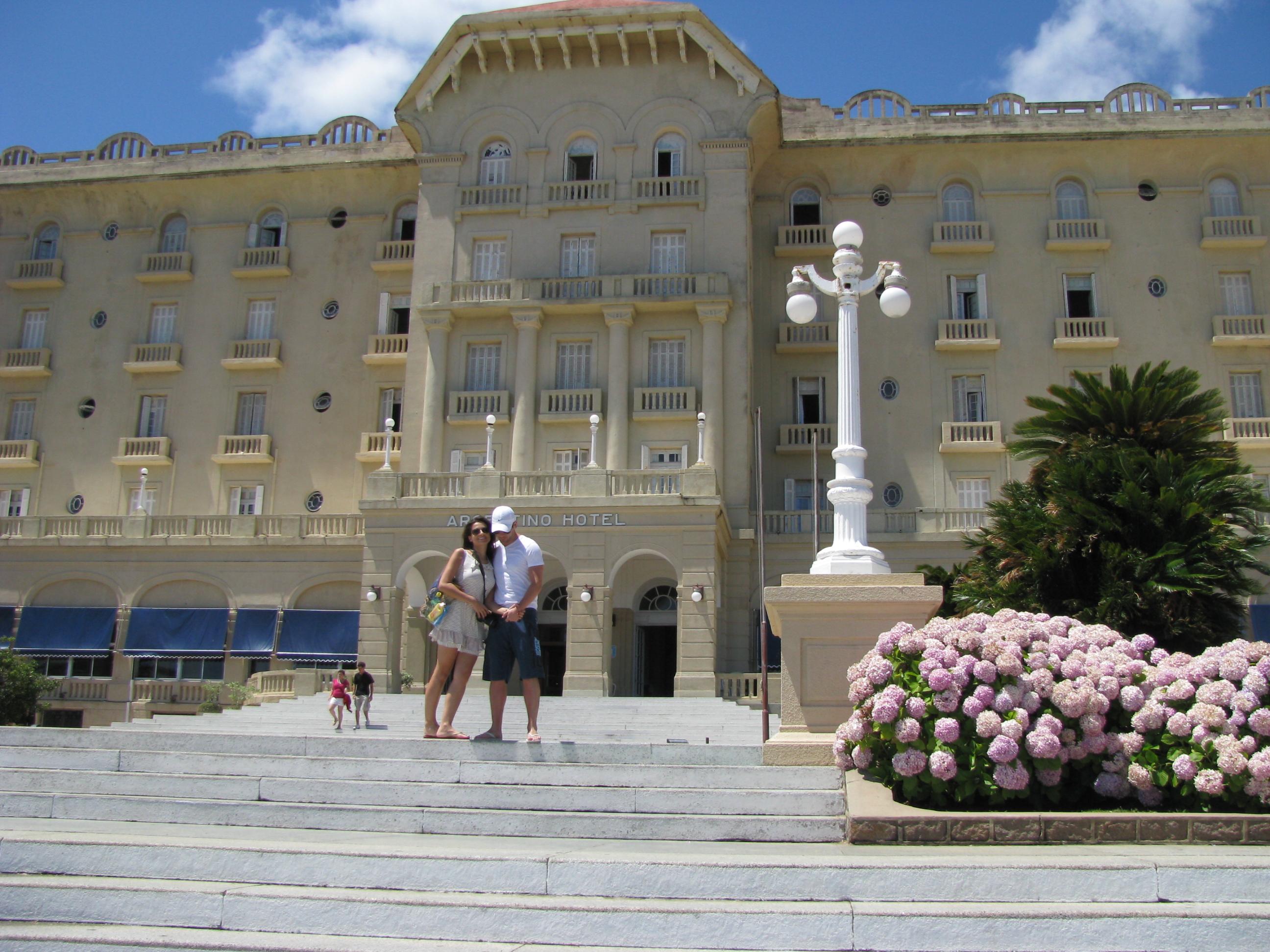 fachada do Hotel Argentino em Piriápolis Uruguai
