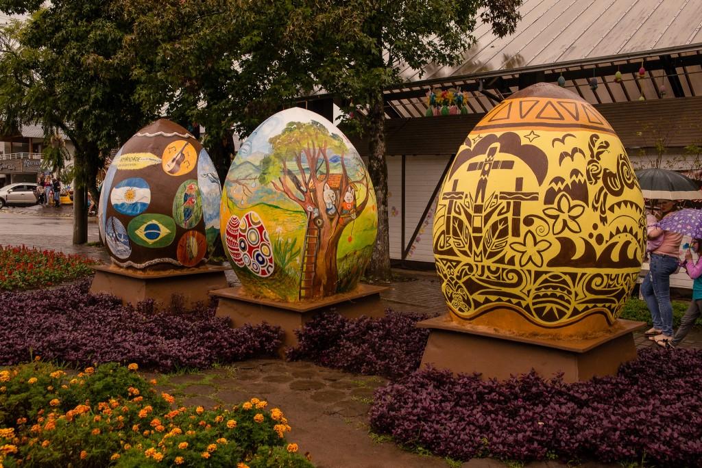 Ovos gigantes farão parte da decoração temática. Foto: Divulgação/Chocofest