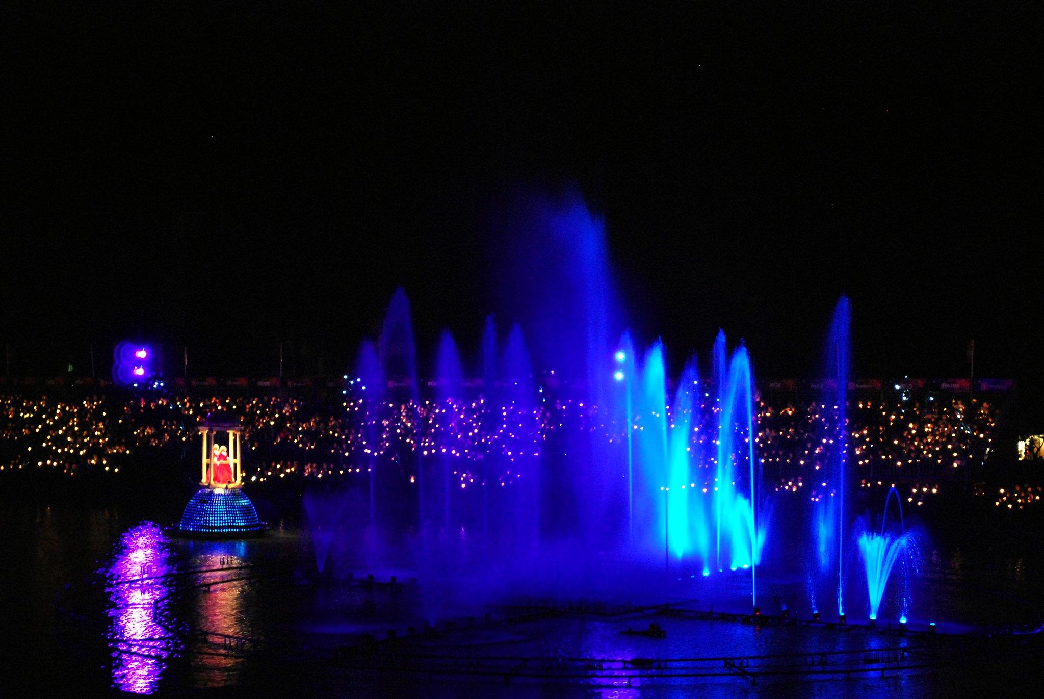 show de fogos no lago illumination