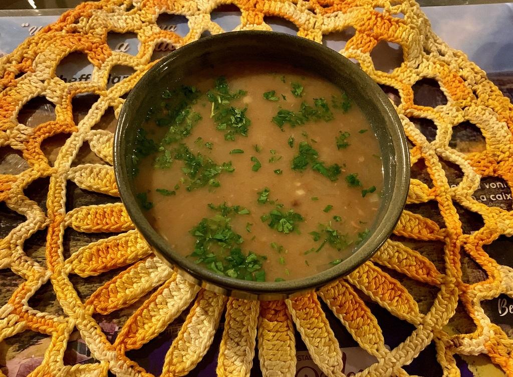 Sopa no Restaurante do Lago em Cambará do Sul