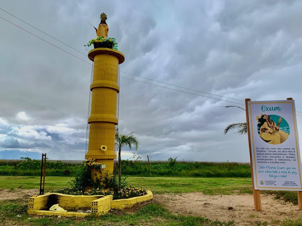 monumento a oxum em arambaré