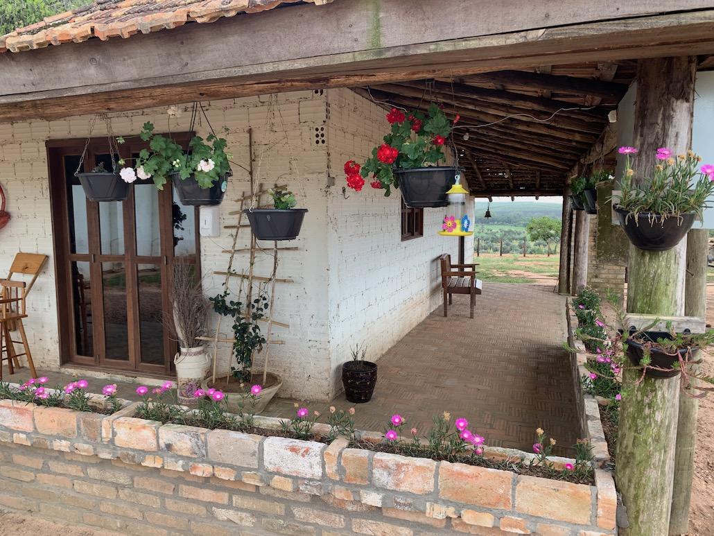 casa decorada com flores