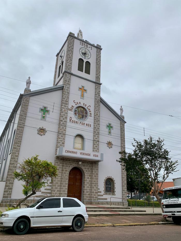 fachada igreja matriz de tapes