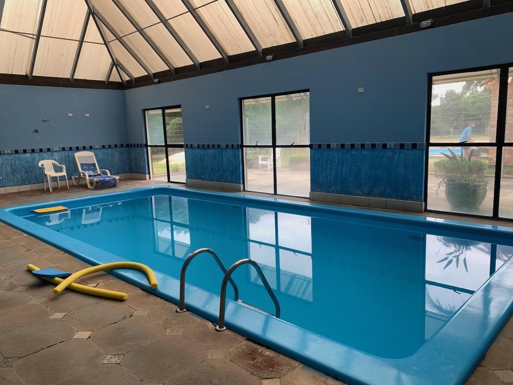 piscina térmica em ambiente externo