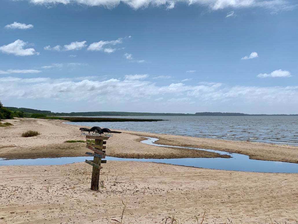 paisagem na praia de tapes
