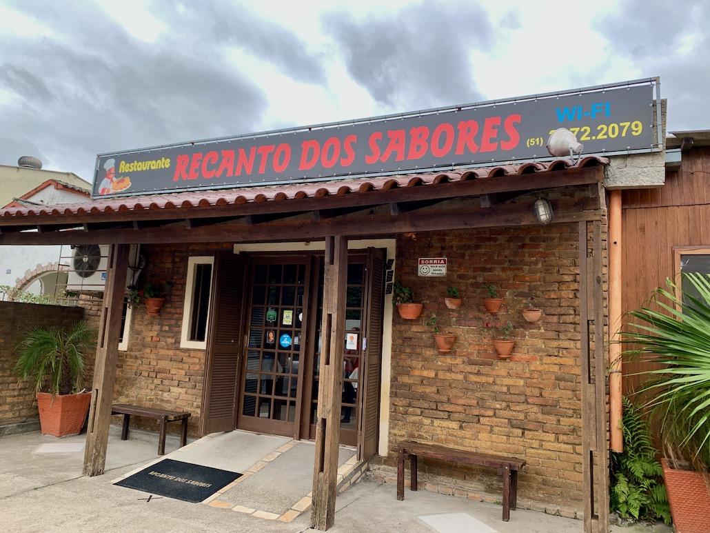 fachada restaurante recanto dos sabores