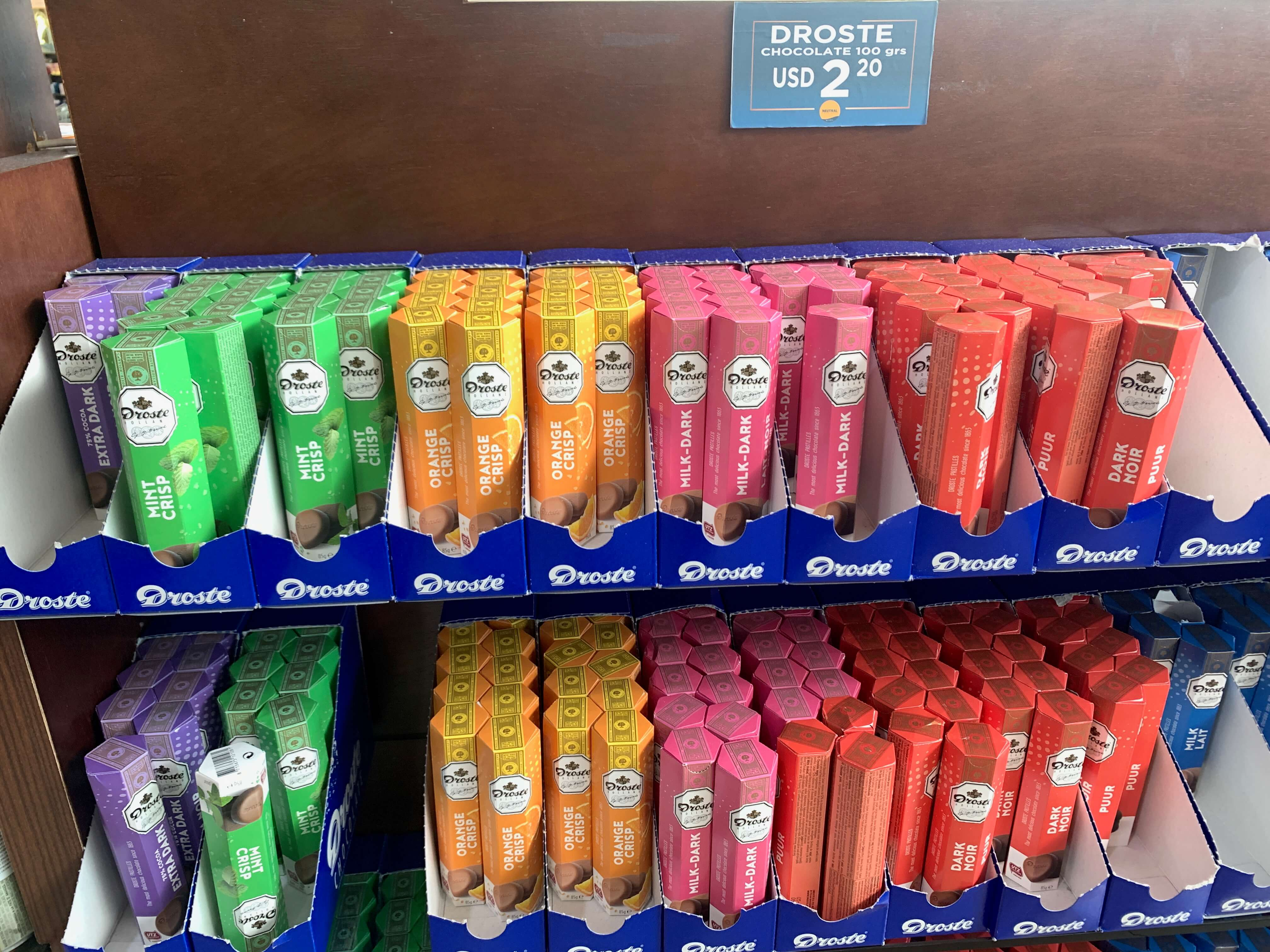 chocolates à venda no freeshop