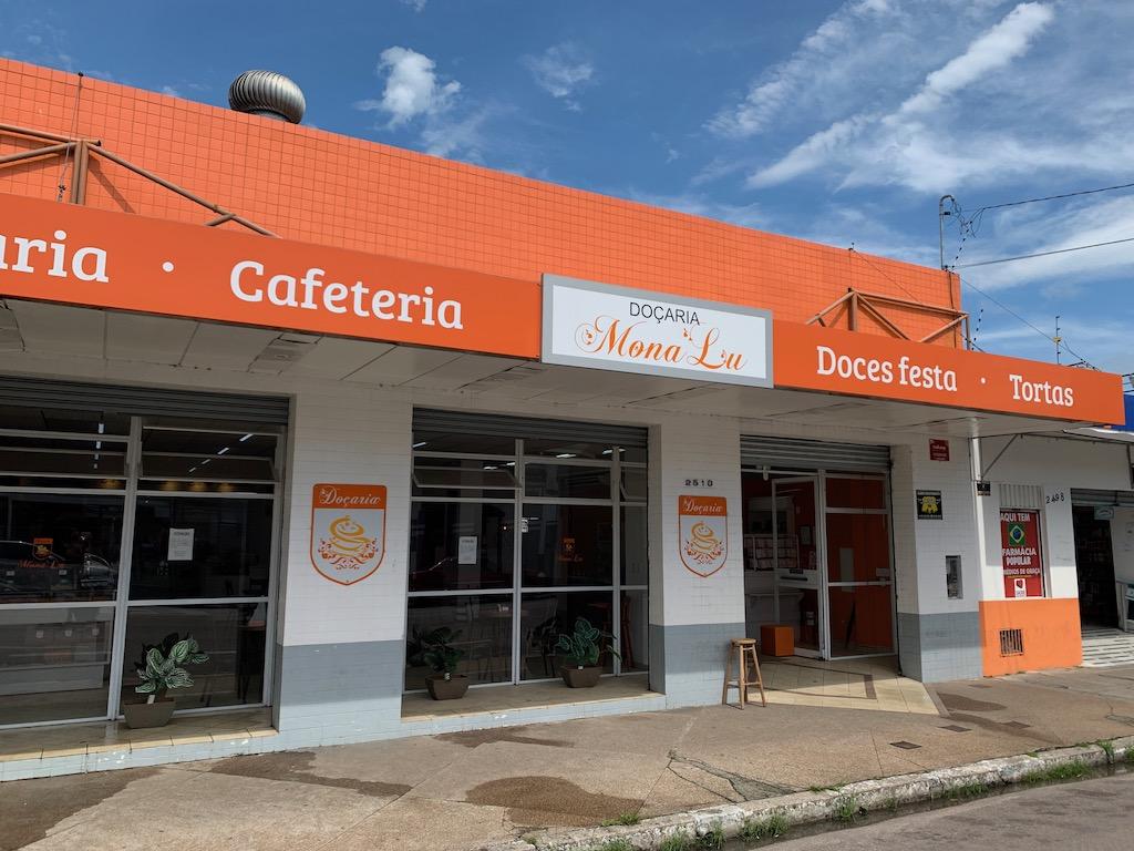 fachada da doceria Monalu, em Pelotas