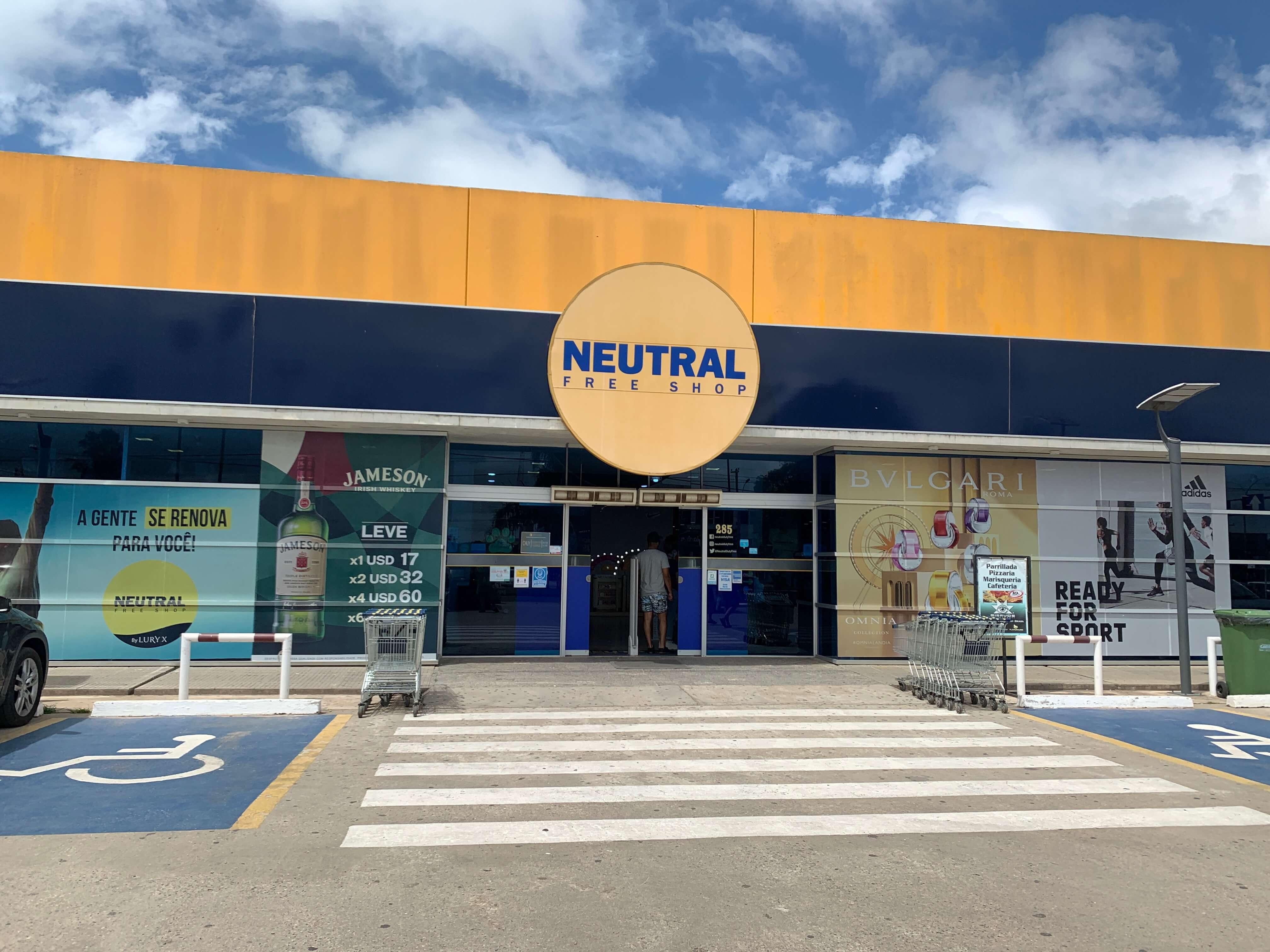 Neutral Freeshop, na cidade de Chuí