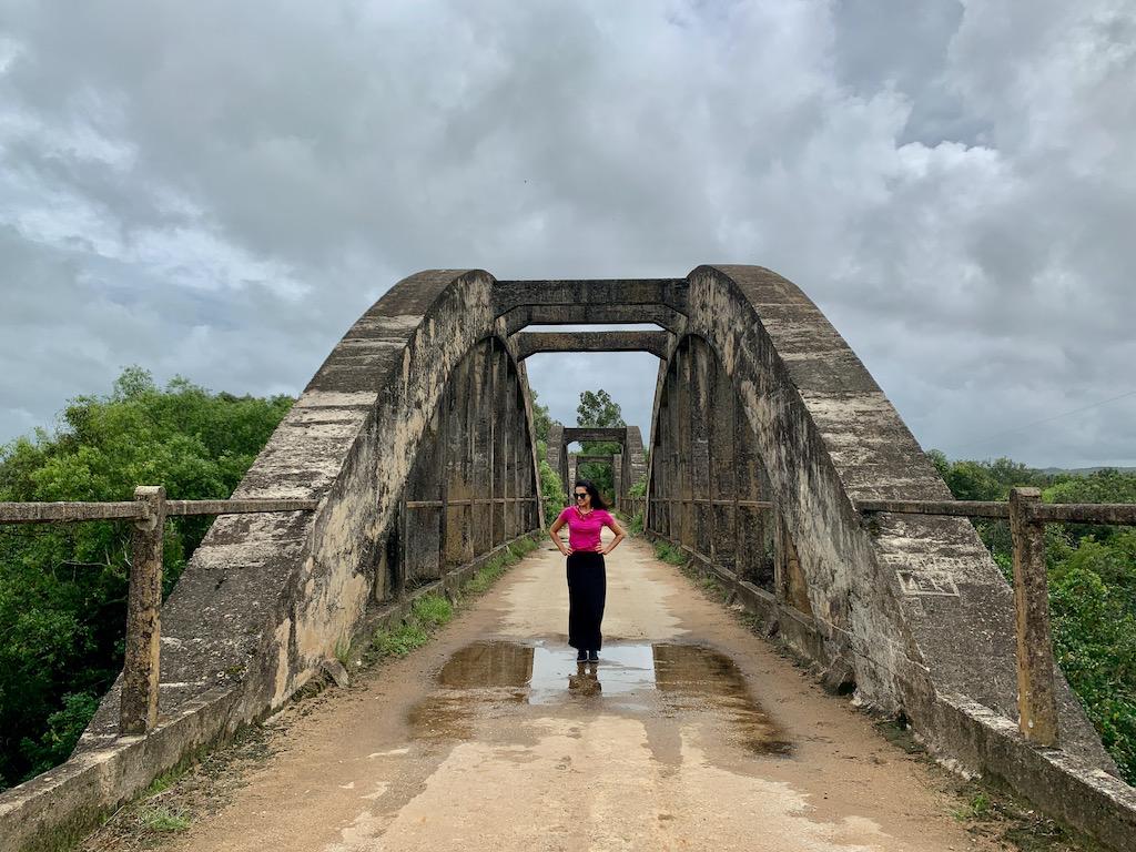 vista da ponte Mauá, em Arroio Grande